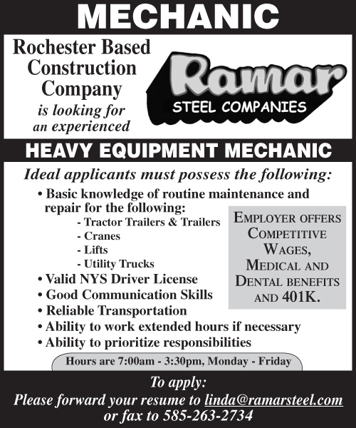 Ramar Steel Sales Mechanic 2x3