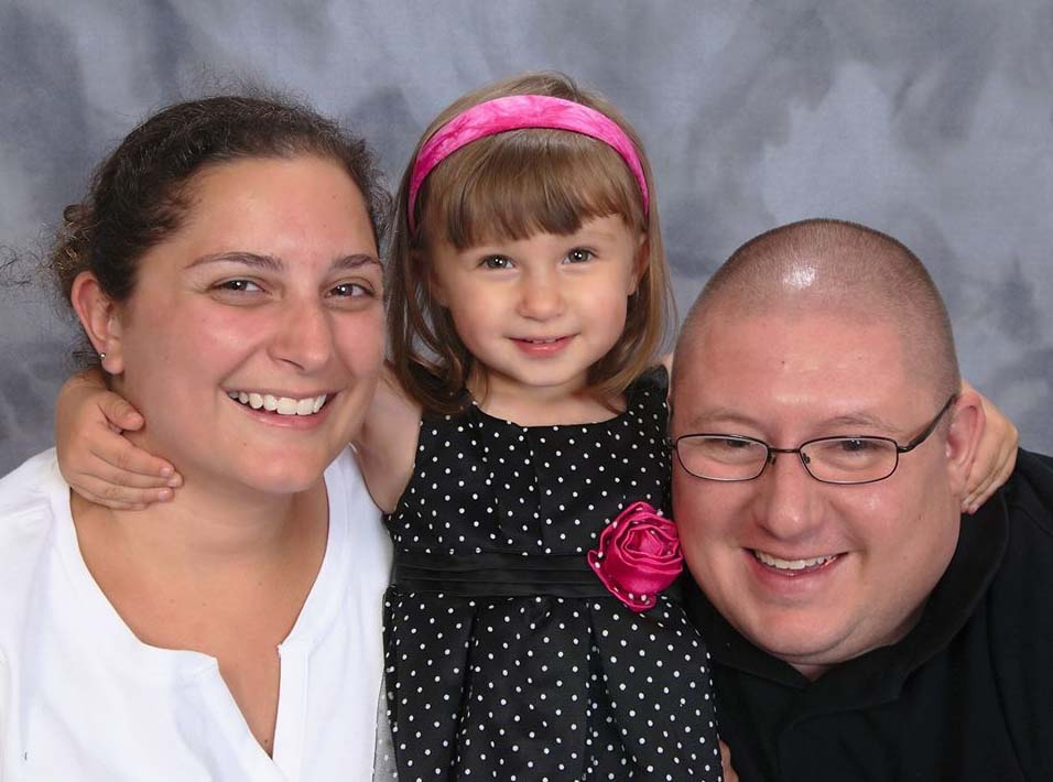 Proceeds from the March Madness benefit basketball game on March 2 will help the Kweicien family, Dan, two-year-old Kailee and Catherine. Kailee is undergoing treatments for a type of muscle cancer.