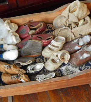 The children's room houses a collection of books, toys, games, clothing and baby shoes from the late 1800s, many of them donated by the earliest settlers.