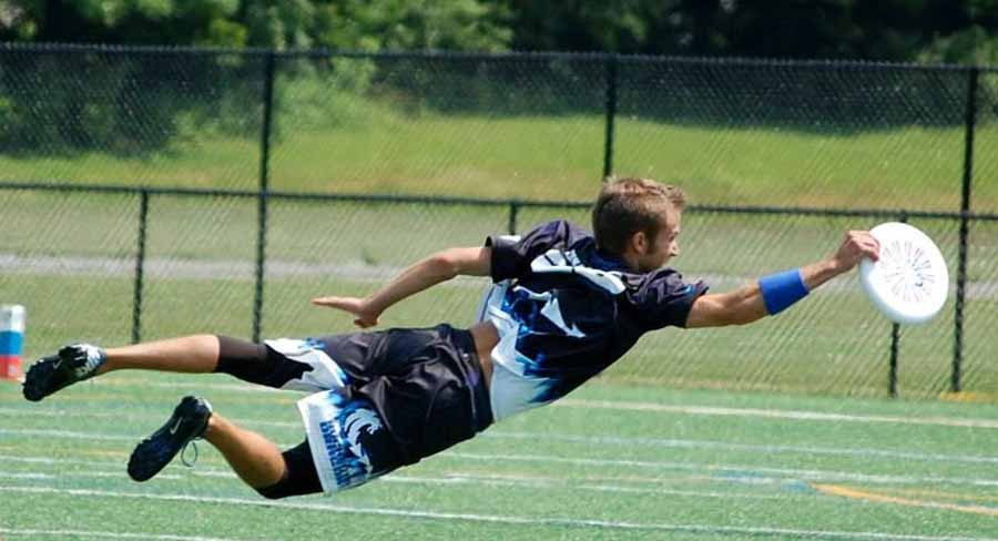 TJ Burns of the Rochester Dragons Ultimate Frisbee team. Photograph from team website.
