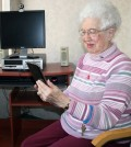 "Veronica ""Vera"" Rapp, a 90-year-old, takes a ""selfie"" for her Facebook page."