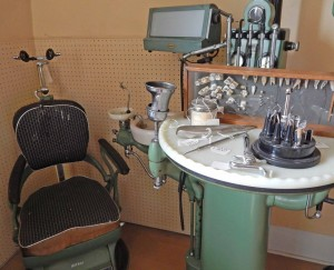 On the third floor visitors will see the completely equipped dental office of Dr. Moore, who practiced on Main Street in Brockport from 1931 until 1958.