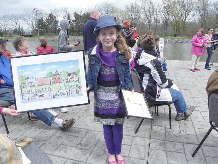 Alexis Potter was the first place winner in the Low Bridge High Water Poster Contest.