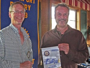 Brockport Rotary President John Egan (l), Cool Kids founder Steve Appleton.