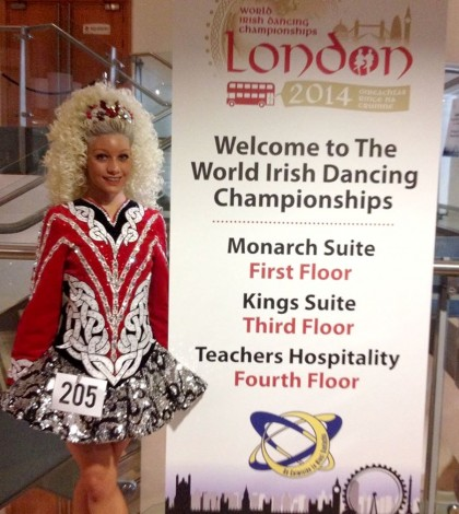Meghan Johnson competed in the 2014 World Irish Dancing Championships in London.