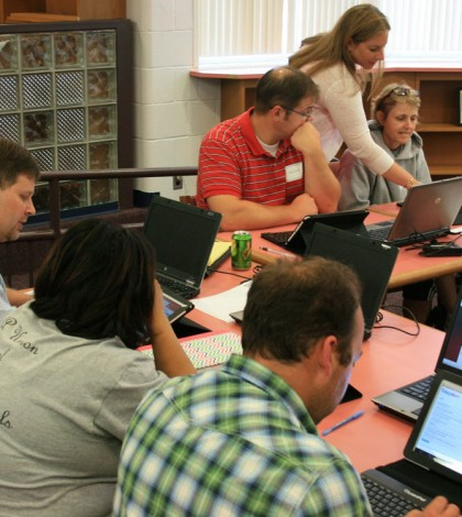 Teacher training sessions were led by LearnPad implementation specialist Mara Berkun.