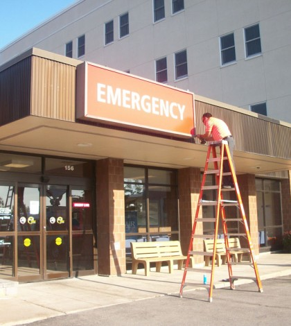 The sign says it - On Tuesday, August 19, the Urgent Care signs at Strong West in Brockport were replaced with Emergency signs. Officials received state Department of Health approval for their free-standing ED earlier in the week.
