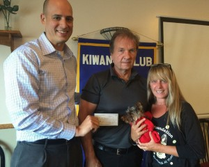 Kiwanis donation Mia
