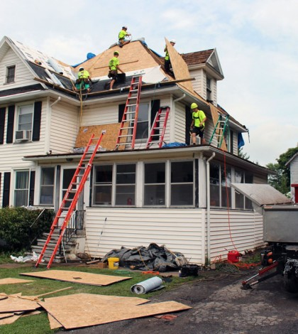 CM Roofing made it possible for the Pilon family of Hilton to have their roof replaced. The roof is just the beginning of the renovation project that will help the family cope with the health challenges that are affecting five family members.