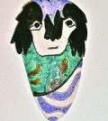 "One of the items up for sale in ""Art For A Cause"" is a ceramic piece entitled ""All About Me"" by Katherine Weston."