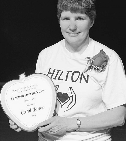Carol Jones, a primary teacher at Quest Elementary School, is the Hilton School District's 2014-15 Teacher of the Year.