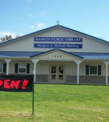 The Hamlin Public Library's official grand opening will be October 25 though patrons have already found it a community asset.