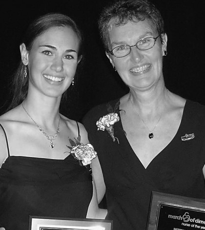 Elizabeth and Mary Scheda received Nurse of the Year recognitions from the March of Dimes organization.