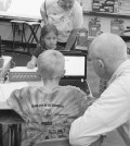 Students at Churchville Elementary School give Senior Citizens of RIGA (SCOR) a crash course in how technology is impacting today's classroom.