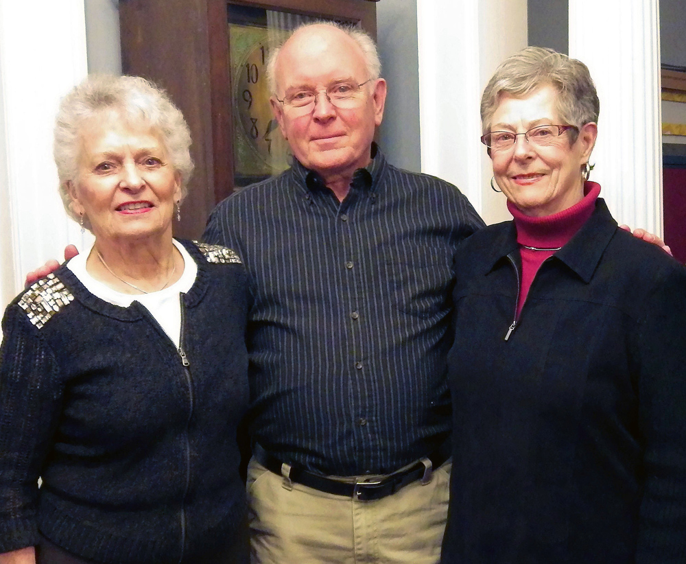 Those honored on February 2 by the Selection Committee for the Monika W. Andrews Creative Leadership Award are: Norm Frisch, award recipient; receiving Certificates of Merit are Sue Savard (left) and Mary Edwards. Photo by Dianne Hickerson