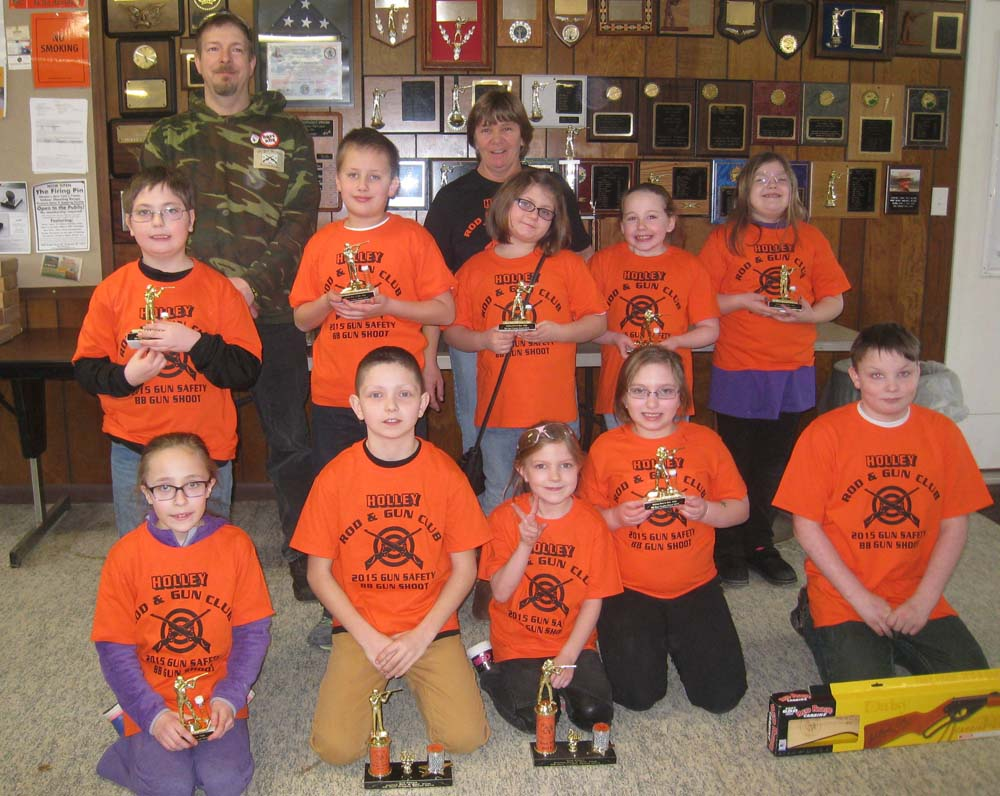 Youth participated in a six-week gun safety course offered at Holley Rod & Gun Club.
