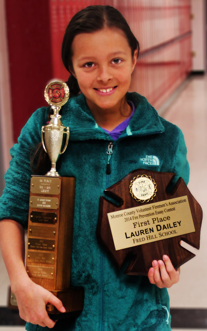 brockport student wins fire prevention essay contest westside news lauren dailey took first place in the grade 5 6 category of a fire prevention