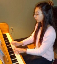 Pianist Cassandra Dilucia brings music to all at Lakeside Beikirch Care Center in Brockport.