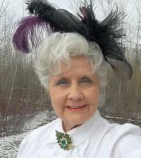 Ruthann Slossar in vintage attire.
