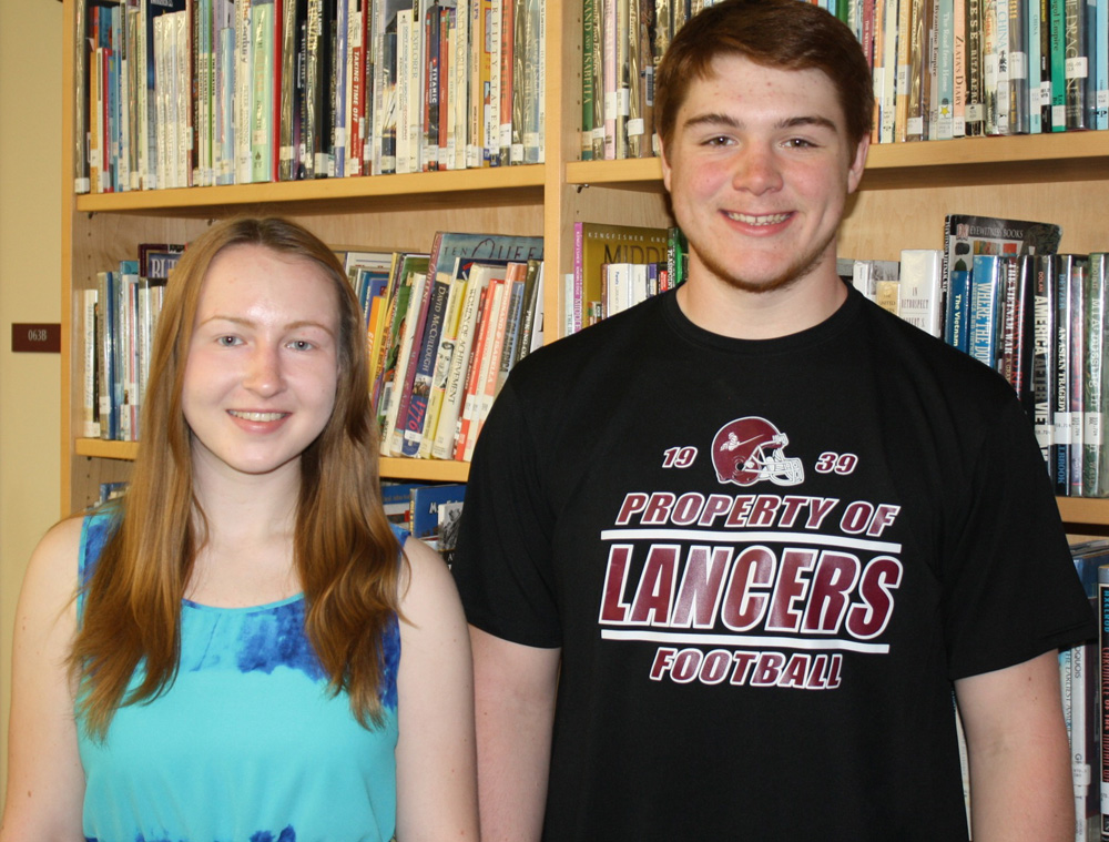 Selected to attend the Hugh O'Brian Youth Leadership Seminar are (l to r) Byron-Bergen sophomore Clare Fraser with alternate Adam Walter. Provided photo