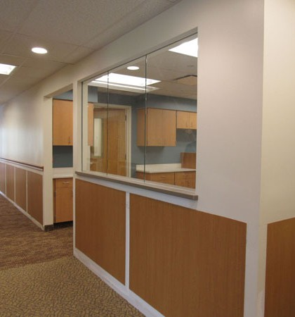 The former Lakeside Memorial Hospital nurses station on the second floor of Strong West in Brockport is an area that will now be used by staff. Brockport Medical Associates and the Wilmot Cancer Institute, Interlakes Oncology and Hematology are moving into the space and will begin seeing patients on June 1. K. Gabalski photo