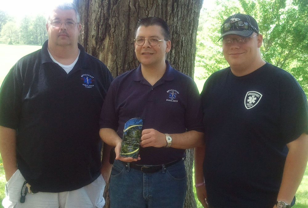 Brockport Ambulance Corps Past Chief Jim Toole, BAC President David Rice and Chief Cody Dean. Provided photo
