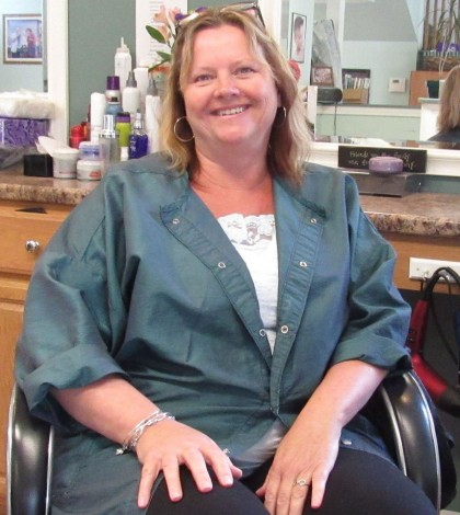 Caroline Day wants her shop to have a homey and comfortable feel. She has been in the cosmetology business for over 30 years. K. Gabalski photo