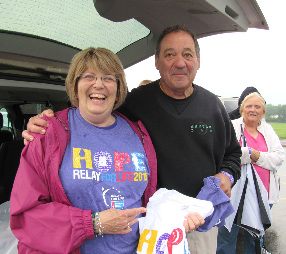 Nancy Steedman and Marty Molinari said they were disappointed the Relay for Life in Spencerport event was cancelled due to dangerous thunderstorms. Nancy and the C-C Leo Club raised thousands of dollars for the American Cancer Society by the day of the event. K. Gabalski photo