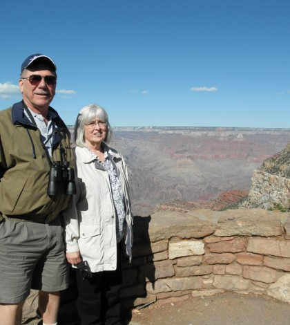 Dick and Leanne Preston of Hamlin shown on their recent visit to the Grand Canyon. They were visiting it for the first time with Mary and Ron Merle of Clarkson when Ron went into cardiac arrest last March. Mary and Leanne are sisters. Provided photo