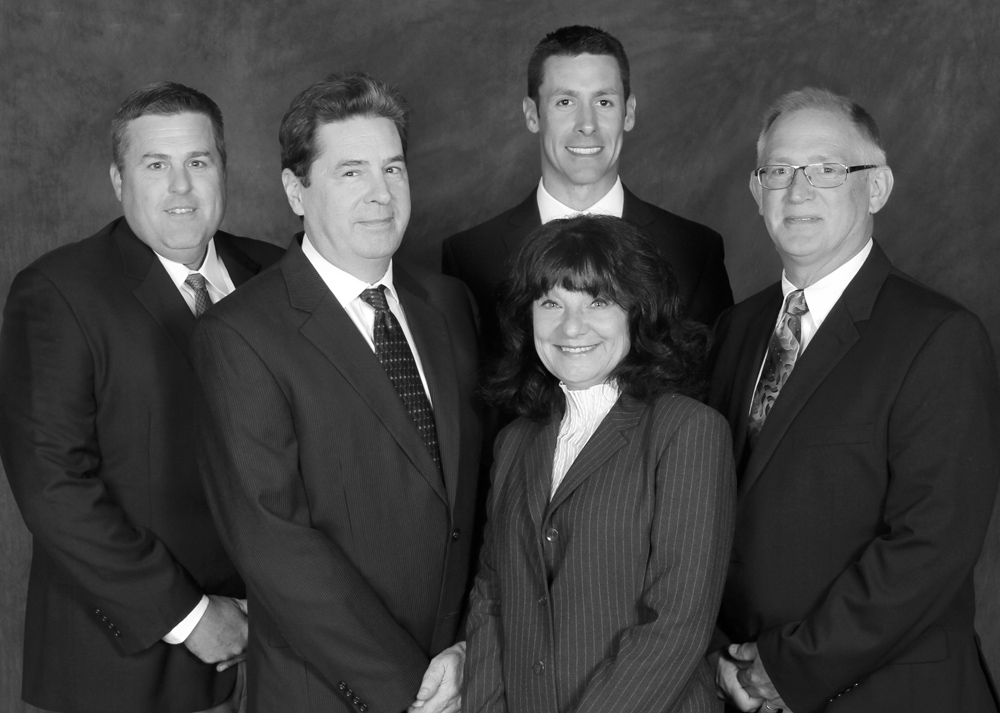 Pictured left to right: Peter Sharpe, Rob Carges, Brian Ingraham, Kathleen Bahr-Seever and Donald Roberts. Provided photo