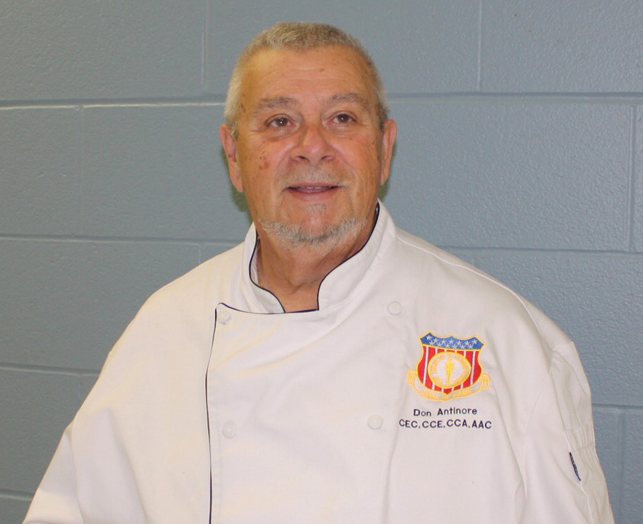 Antinore holds several designations, including Certified Executive Chef (CEC), Certified Culinary Educator (CCE) and Certified Culinary Administrator (CCA). In 2010, he was admitted to the American Academy of Chefs Culinary Hall of Fame, and is one of only 81 living hall of fame chefs in the United States today. Provided photo