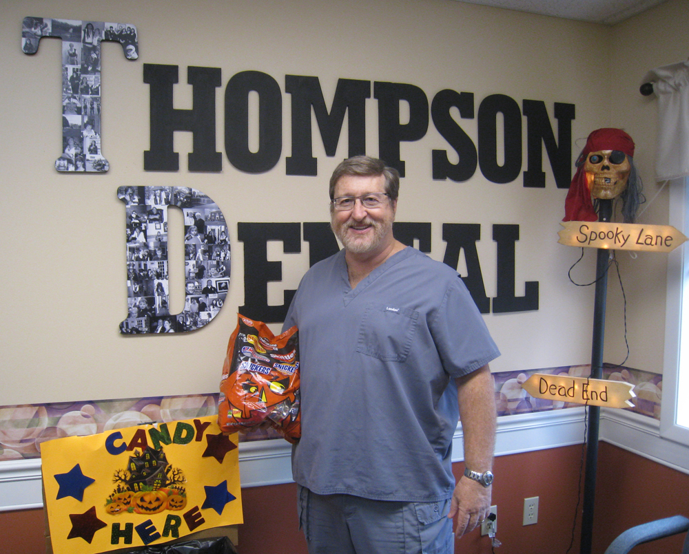 Dr. Steven J. Thompson invites kids and adults to drop off their excess Halloween candy during the week after Halloween