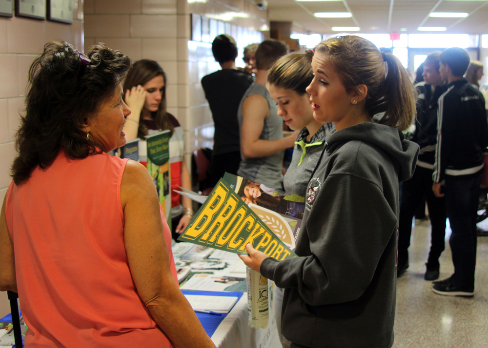 Byron-Bergen students took the opportunity to make connections and network with admission representatives from the schools they are interested in attending. Provided photo