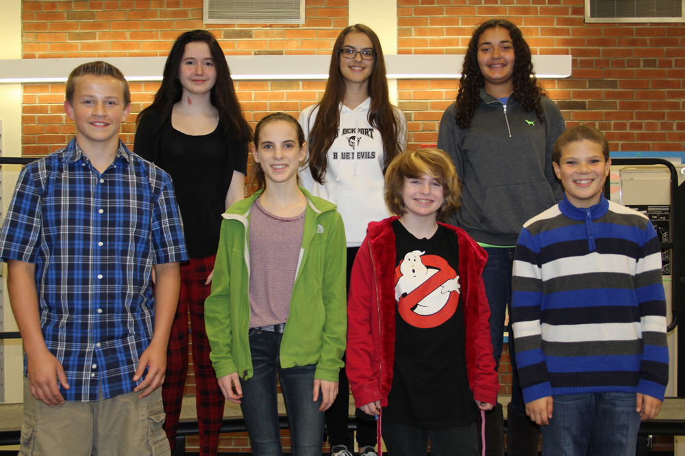 "Front row, left to right: Austin Stroup, Aelis Spiller, Haley Mineti, Leandrew ""NJ"" Wingo. Back row, left to right: Grace Crowe, Giuliana Lincoln, Mikayla Zarr. Provided photo"