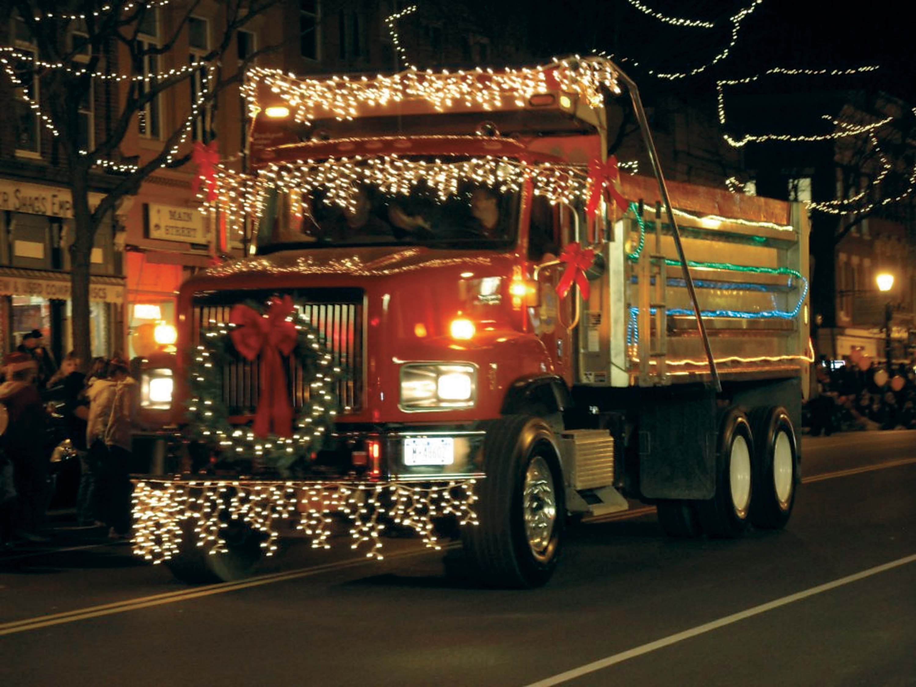 The Holiday Lights Spectacular Community Parade in Brockport will feature sparkling lighted floats, cars and trucks to line up Main Street. File photo