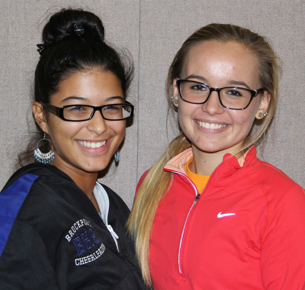 Brockport seniors Laritza Fernandez Claro (left) and Danielle Falkenstein (right) collaberatively coordinated the fashion show fundraiser this past March to benefit the American Cancer Society. Provided photo