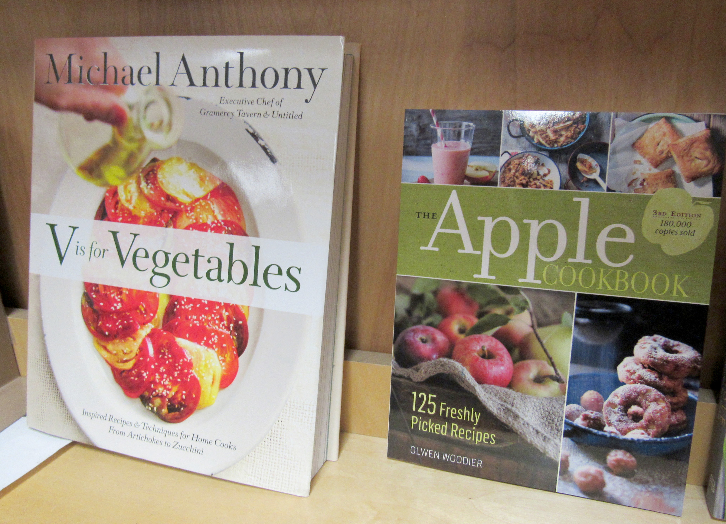 Cookbooks featuring fruits and vegetables are a wonderful holiday gift idea for gardeners. K. Gabalski photo