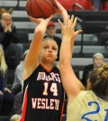 Samantha Courtney, a senior at Roberts Wesleyan, has 15 games remaining in her college career. With a total of 951 career points, she is just 49 points away from becoming the tenth player in the college's history to reach 1,000.