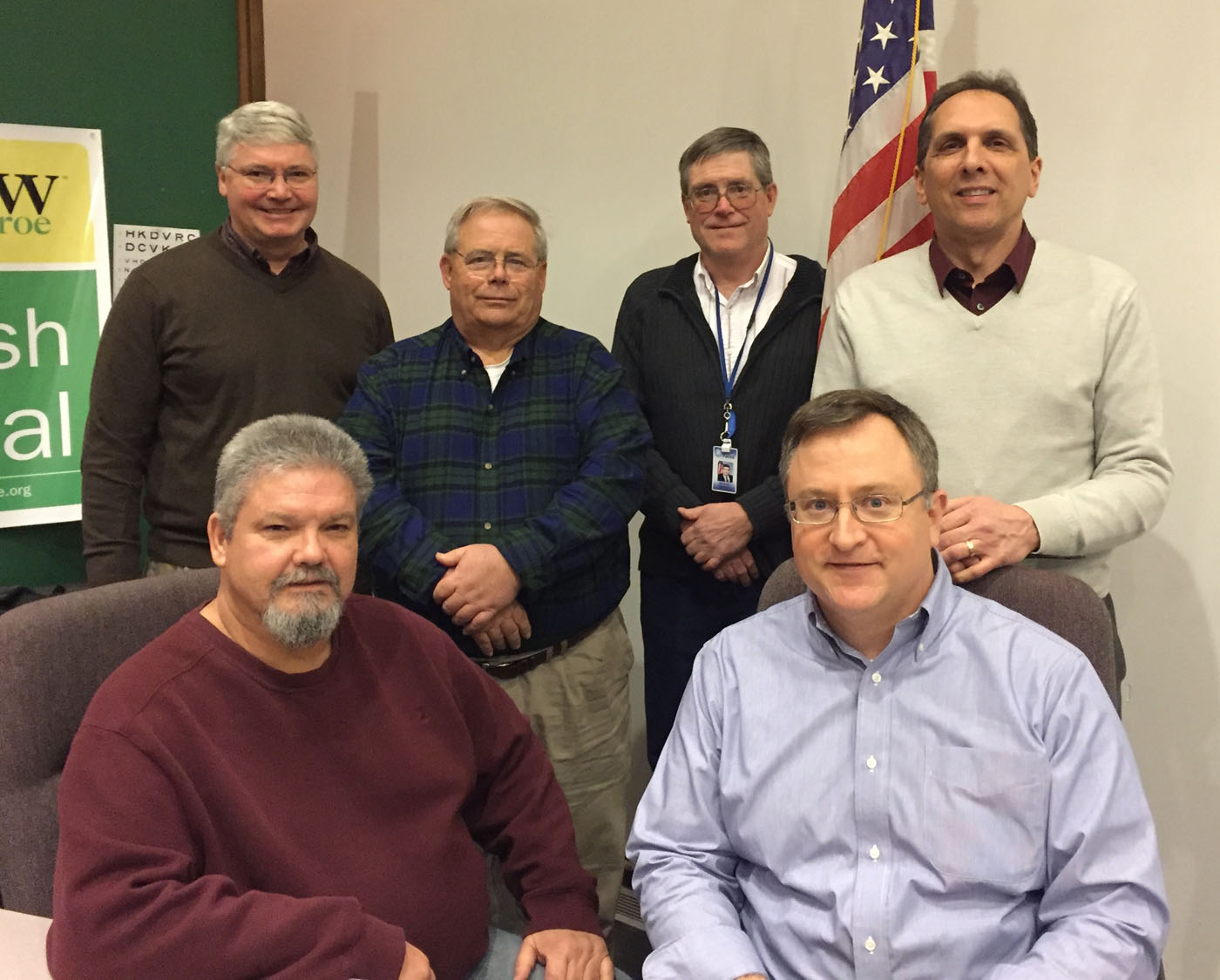 Pictured left to right: Front row - Gary Comardo and Kyle Mullen; Back row - Dan Barlow, Brian Speer, Jim Smith and Councilperson Jim Roose. Provided photo