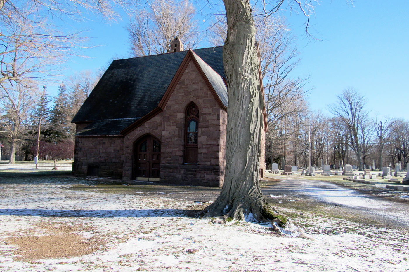 The Hillside Cemetery Chapel in Clarendon, located on State Route 237 just outside the Village of Holley.  It was placed on the Register of Historic Places in 2013 and a recent state grant will help pay for much needed restoration work. K. Gabalski photo