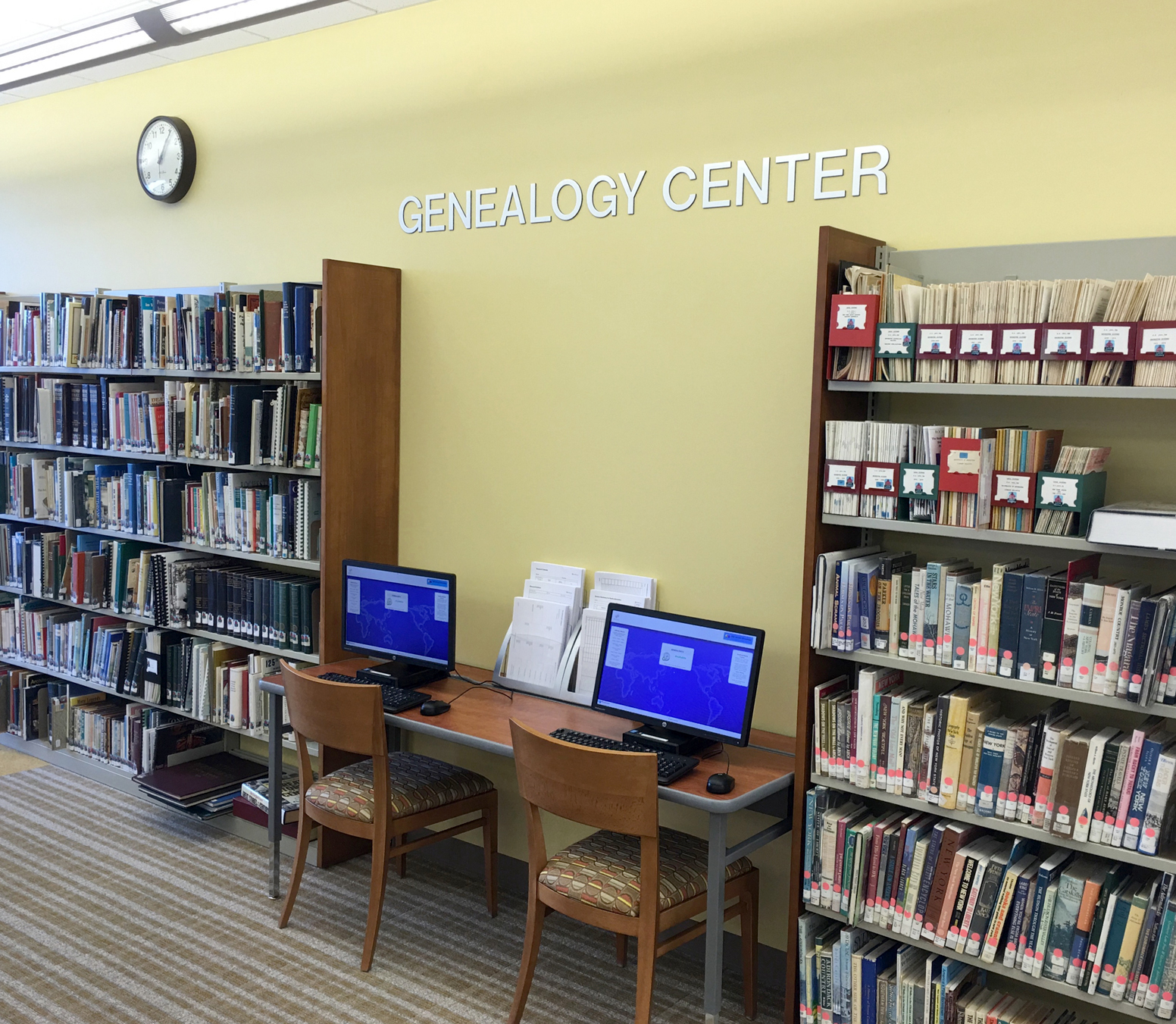 The new Genealogy Center located on the second floor of the Gates Public Library opens to the public on Thursday, March 24. Provided photo
