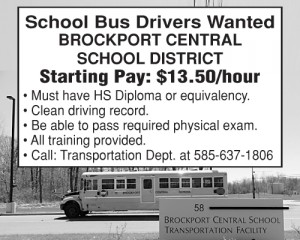 Brockport School Bus Driver 2x2