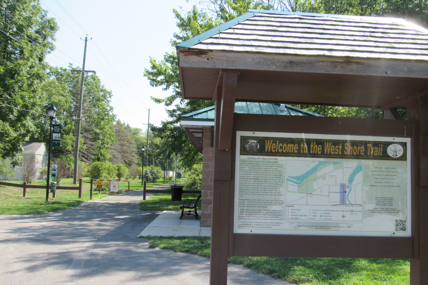 Black Creek this summer was designated an Inland Waterway by New York State. The designation opens up opportunities for grant funding, which may result in the extension of the West Shore Trail in Churchville. K. Gabalski photo