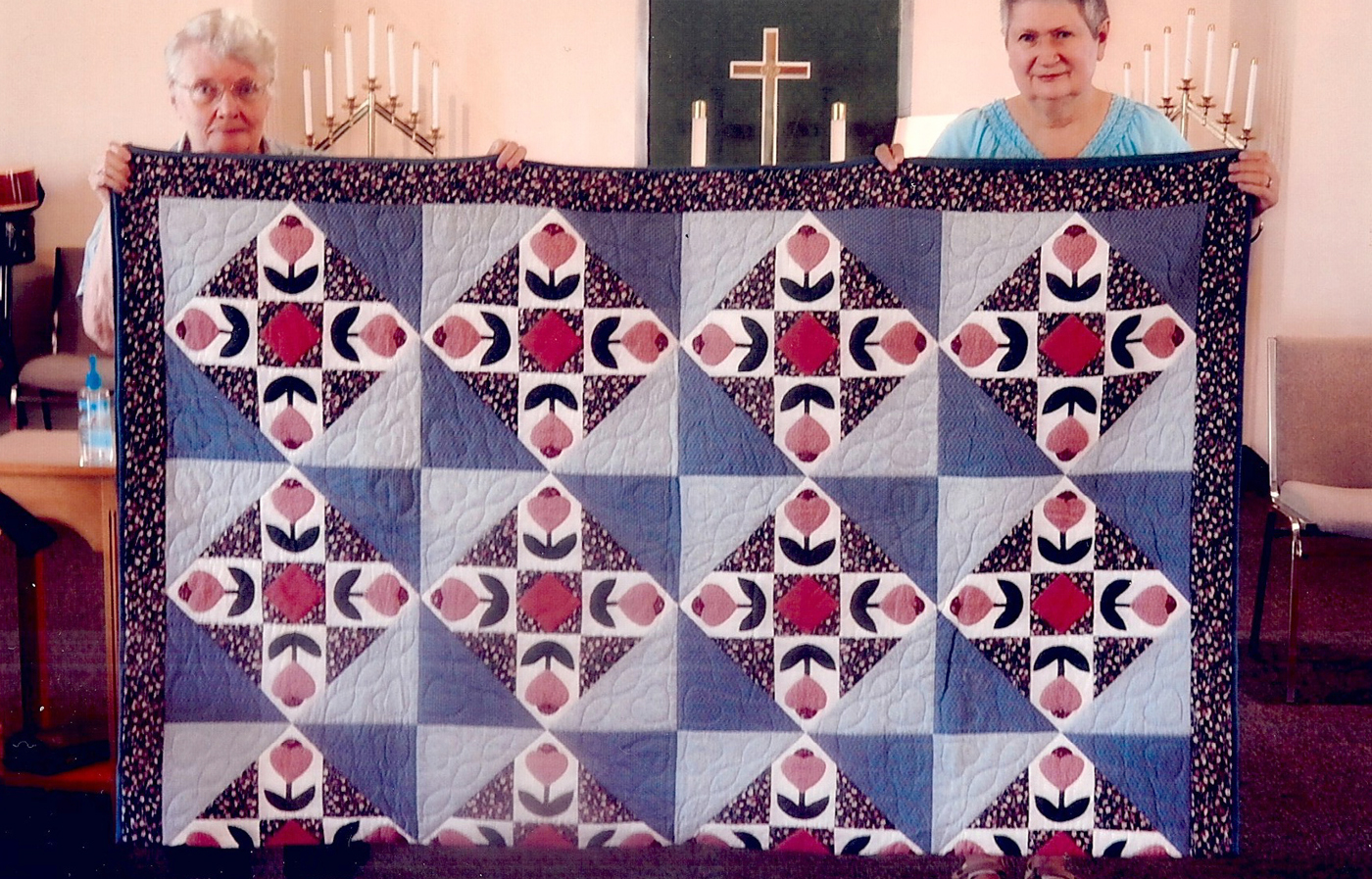 The hand appliqued and stitched twin size quilt for this year's quilt show will be silent-auctioned at UMC of North Chili on Friday and Saturday, September 16 and 17. Provided photo
