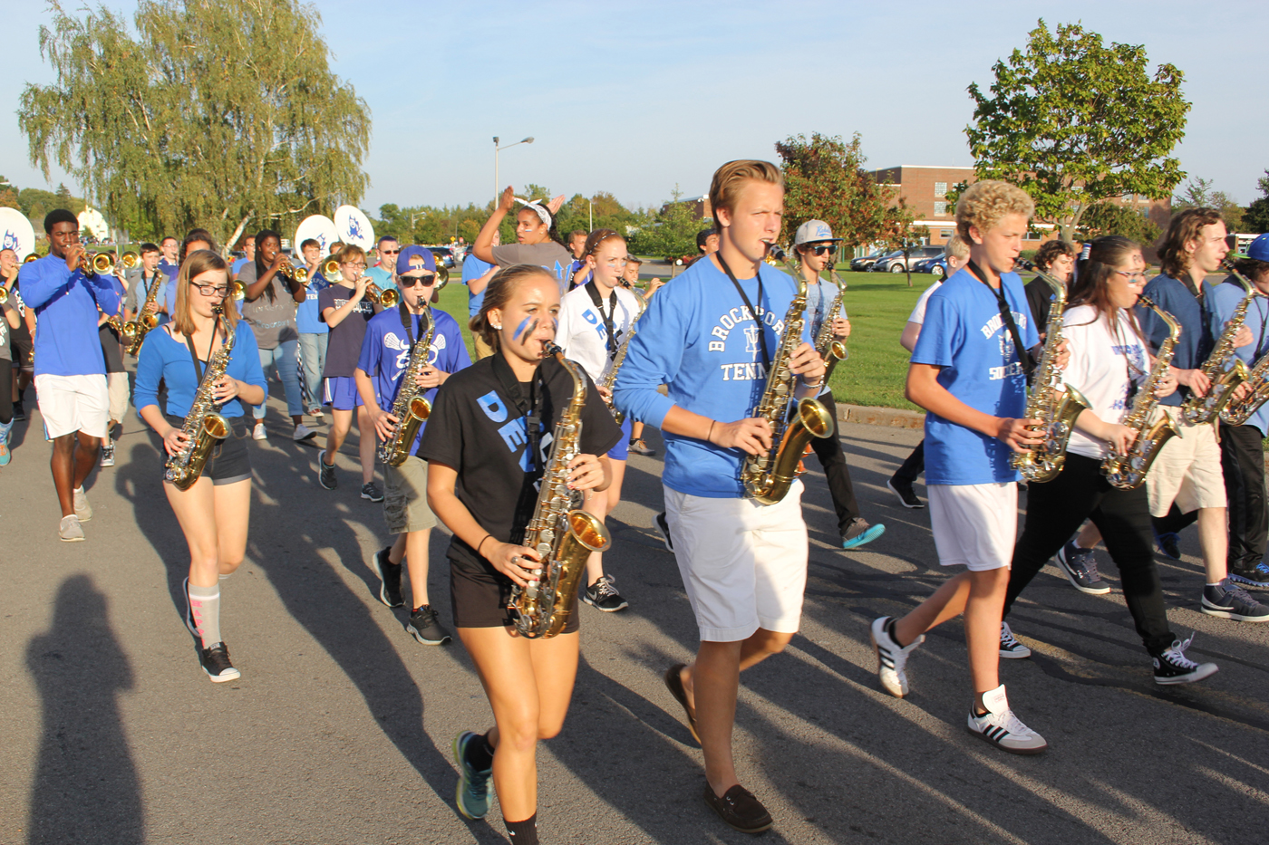The Brockport High School Band marching in last year's homecoming parade. Provided photo