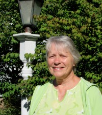 "Charlotte Wright has been a familiar face at the Seymour Library for years. She is stepping down as president of the Friends of the Seymour Library group and a ""retirement"" event is planned at the library September 28. K. Gabalski photo"