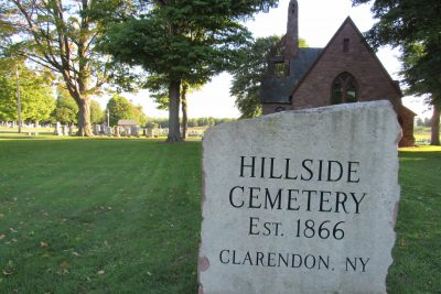 The historic Hillside Cemetery in Clarendon will be the site of the dedication of a historical marker honoring a local Civil War hero on Saturday, October 8. K. Gabalski photo