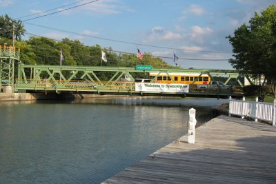 The busy Route 259 lift bridge in Spencerport. K. Gabalski photo