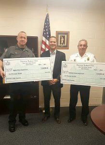 Pictured left to right: Chief Chris Mears of Ogden Police, Senator Rob Ortt and Chief Daniel Varrenti of Brockport Police. Provided photo