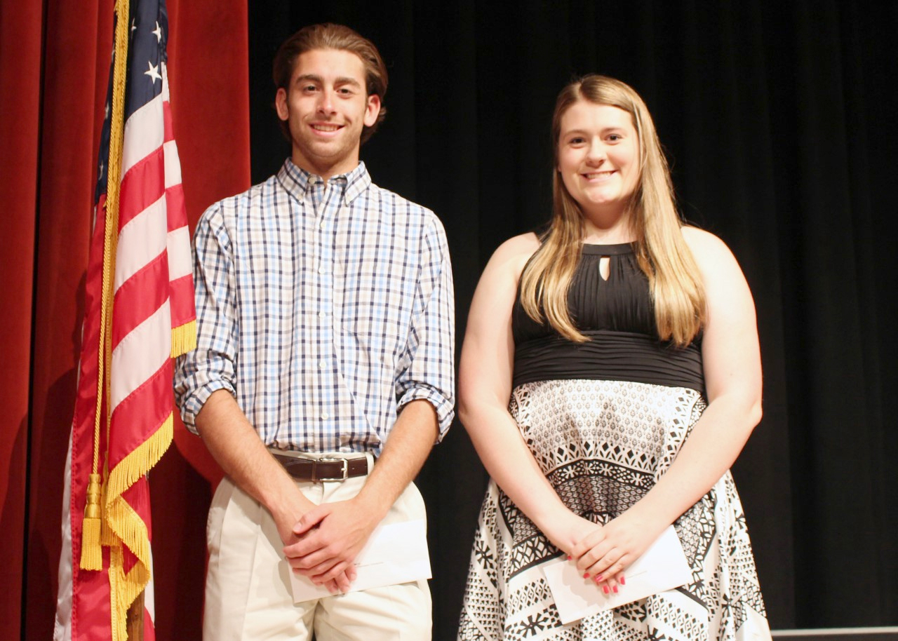 Hilton High School 2016 graduates Alexa Miles and Michael Cunico received scholarships from the Hilton Education Foundation. Provided photo
